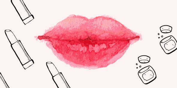 Strijd droge lippen