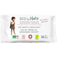 Eco by Naty Unscented Sensitive Wipes - Pack Of 56 - Eco by Naty